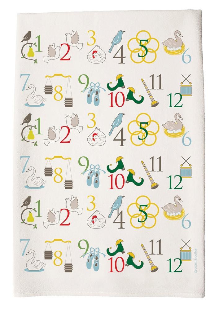 12 Days of Christmas Towel