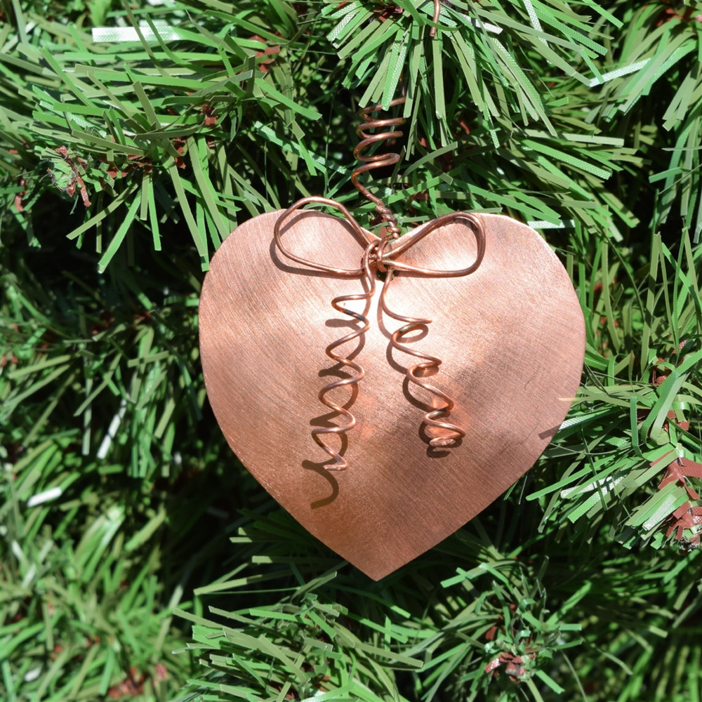 Copper Heart Ornament