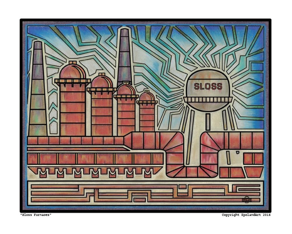 Sloss Furnace Print