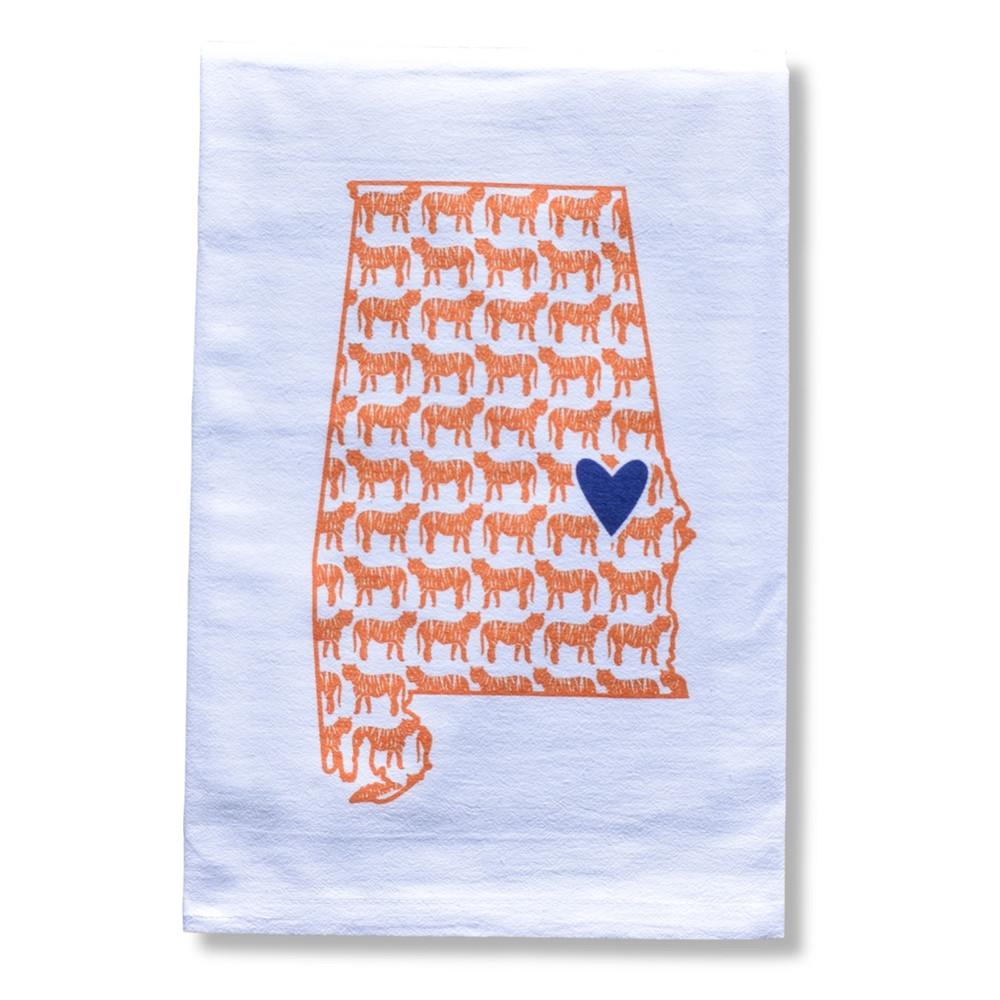Tiger Heart Auburn Towel