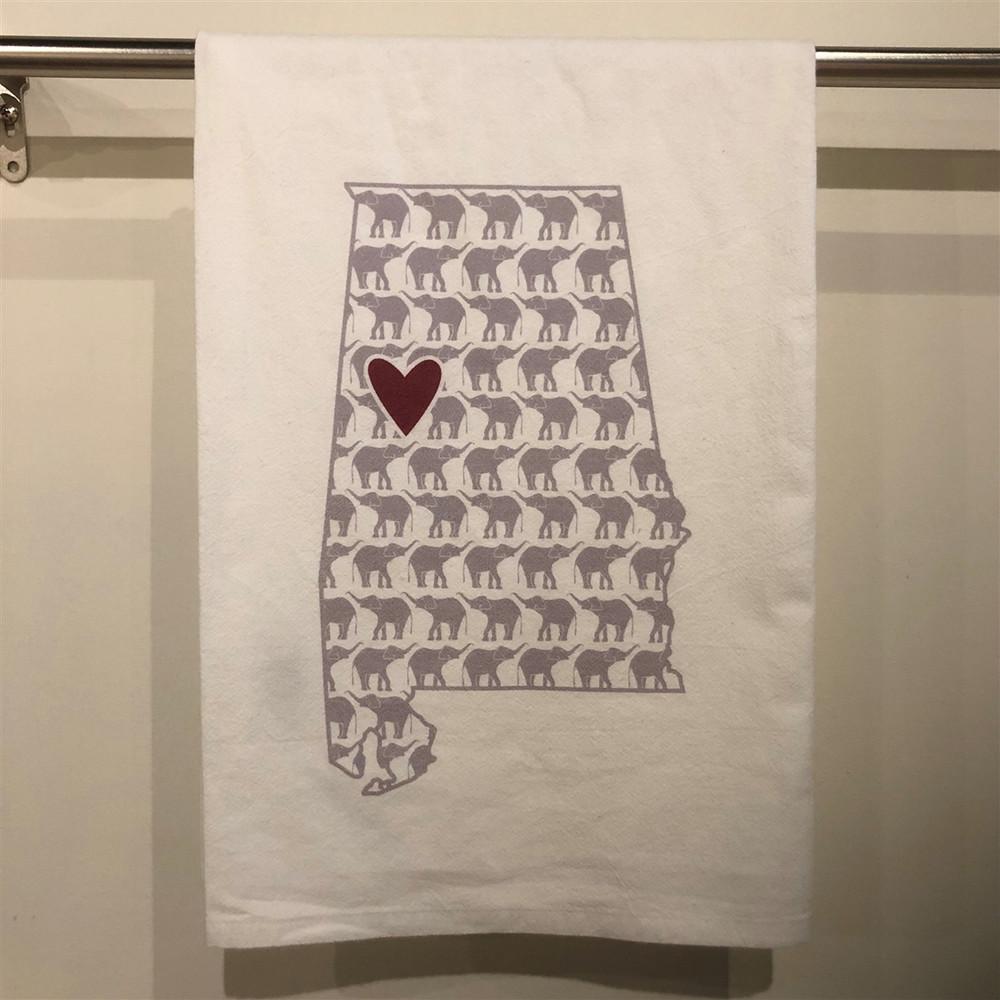 Elephant Heart Crimson Towel