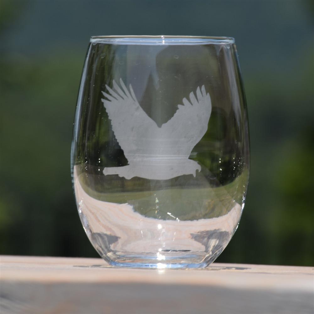 Eagle Stemless Wine Glass