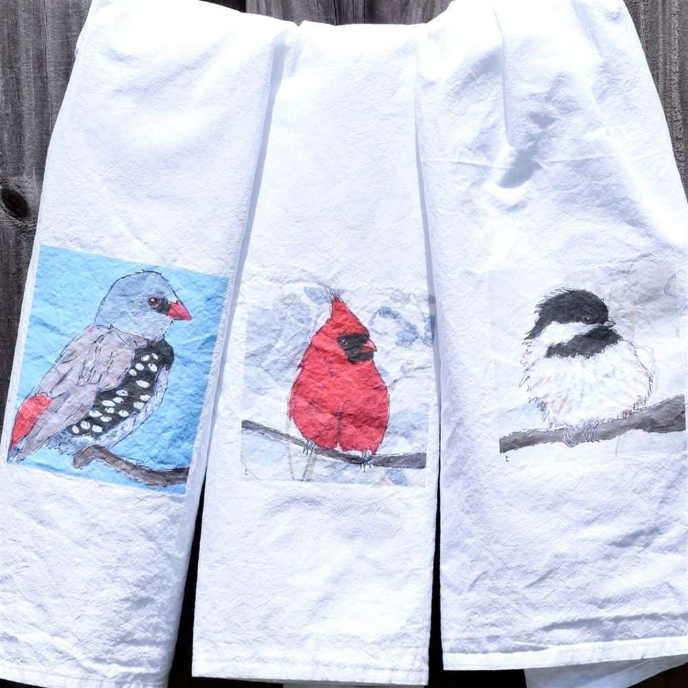 Backyard Bird Kitchen Towels