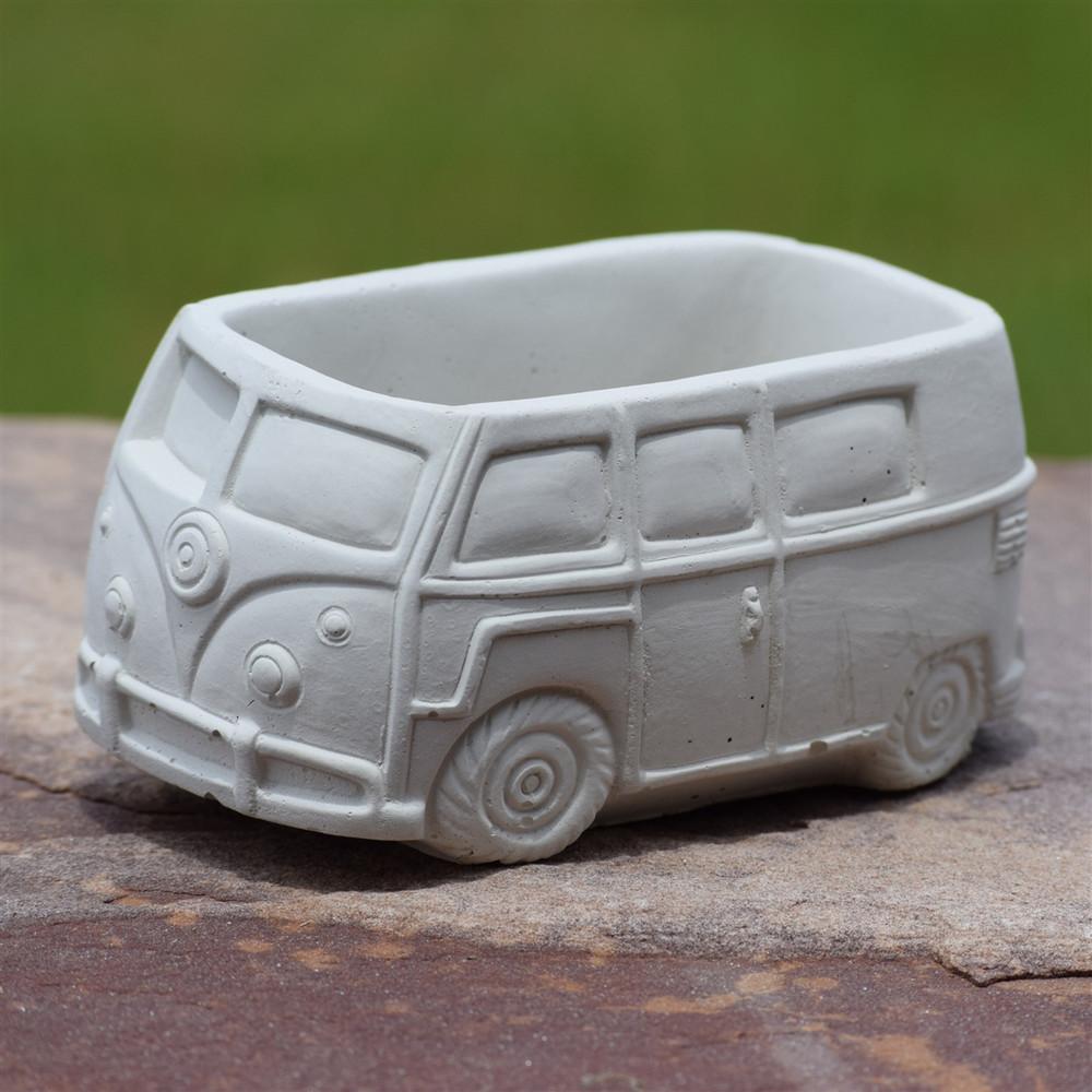 Concrete VW Bus Planter