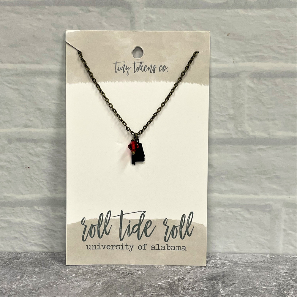 Tiny Tokens Alabama Necklace - Roll Tide Roll