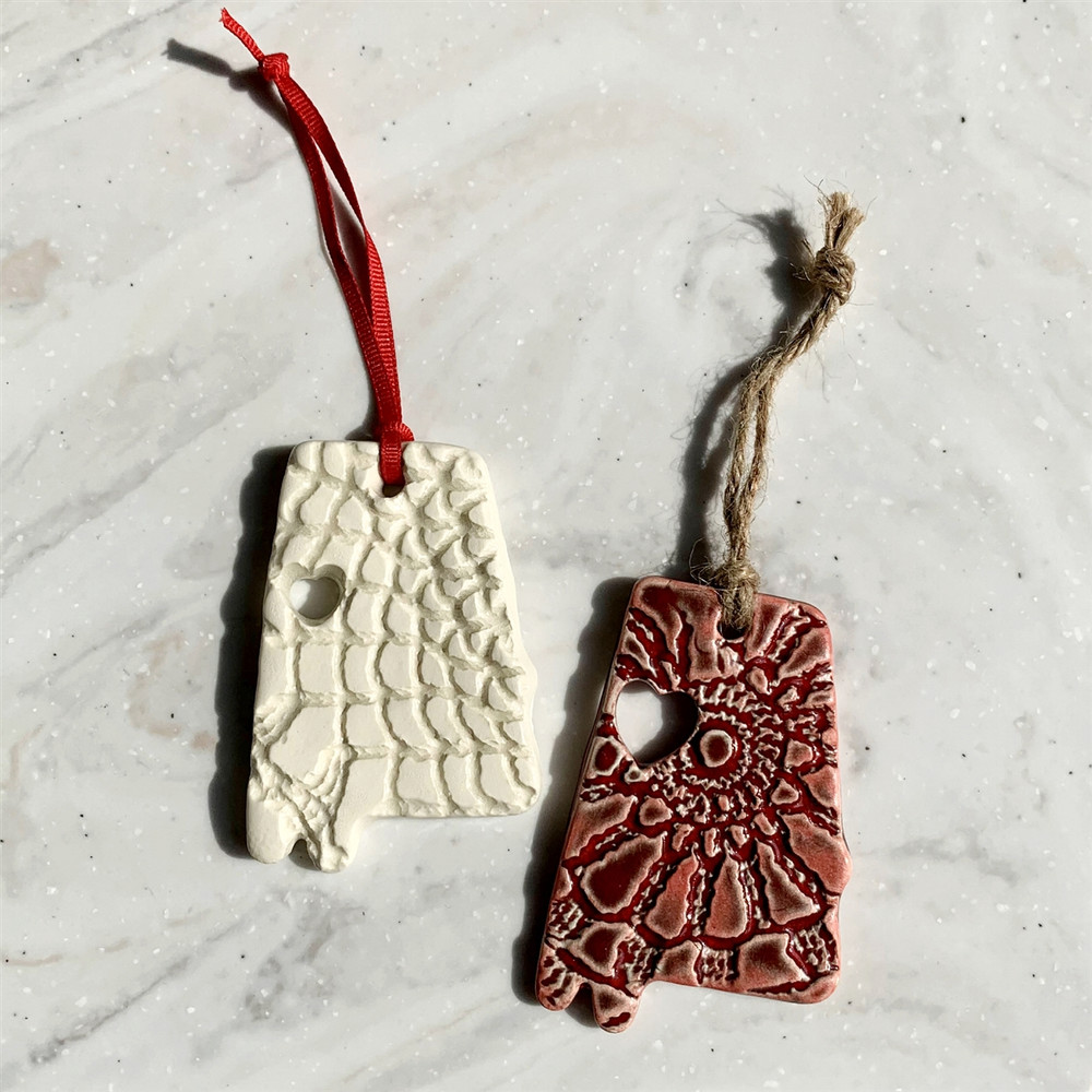 Prodigal Pottery Tuscaloosa Heart Ornament