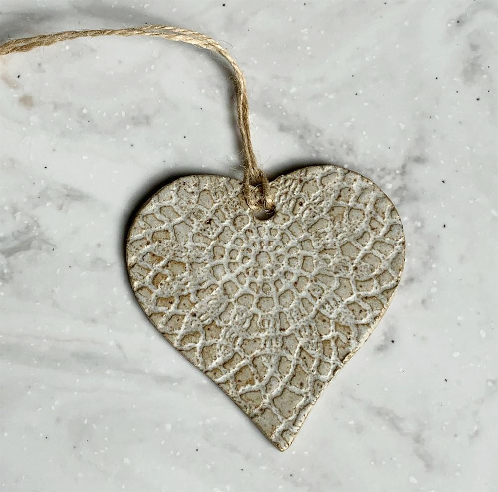 Aspire Pottery Heart Ornament
