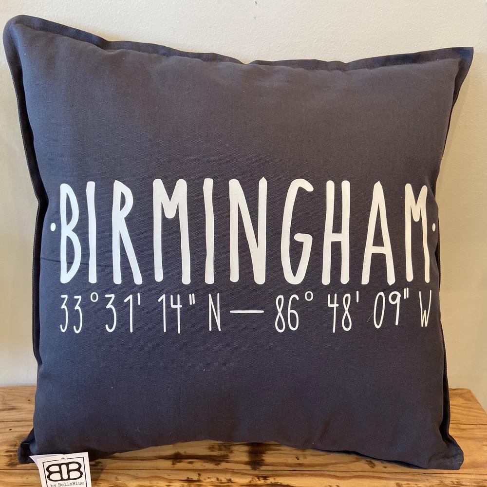 Birmingham Coordinates Pillow