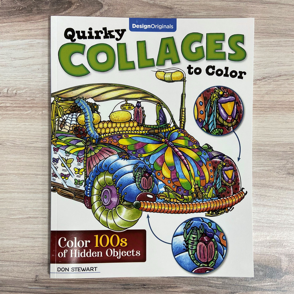 Quirky Collages to Color: Color 100s of Hidden Objects