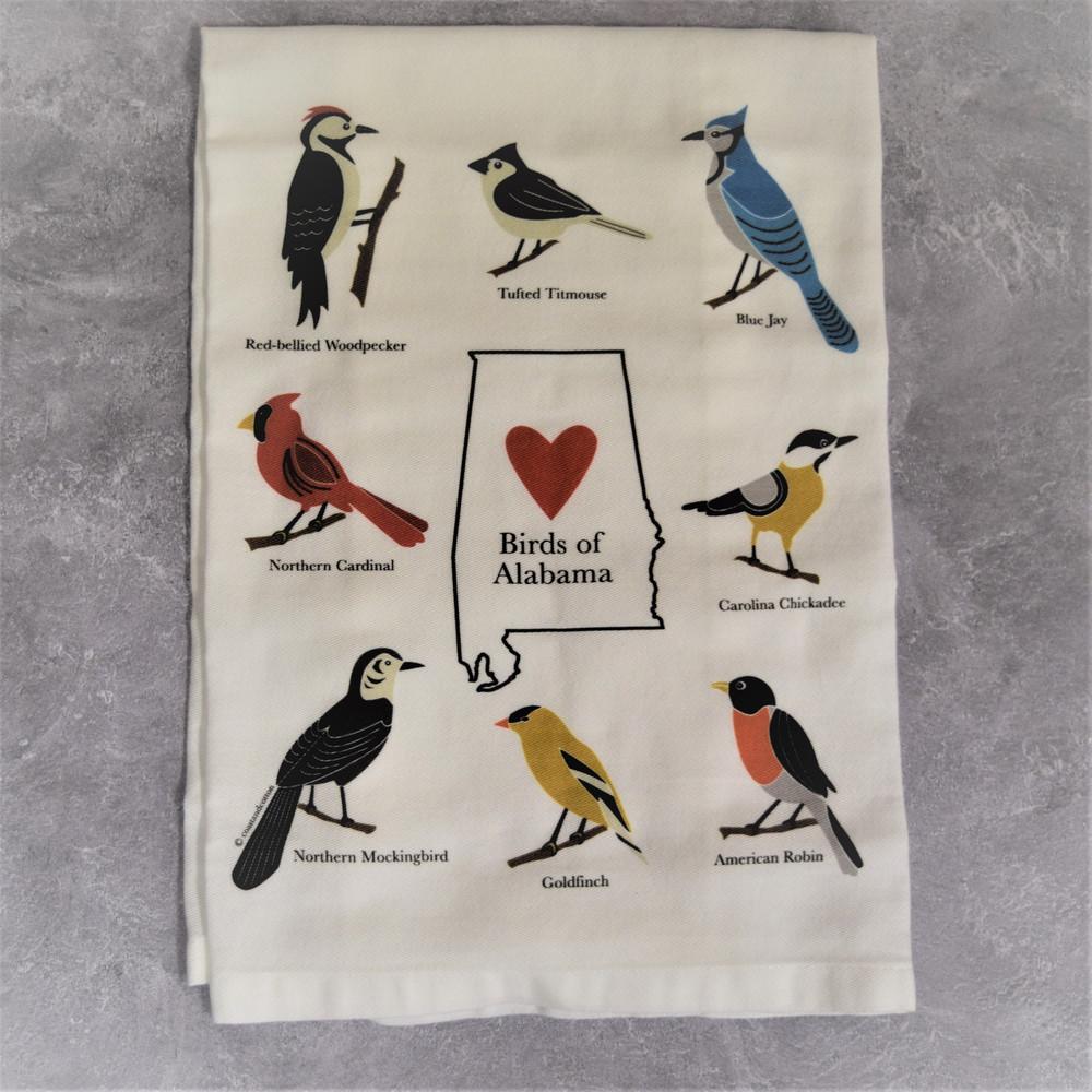 Birds of Alabama Hand Towel