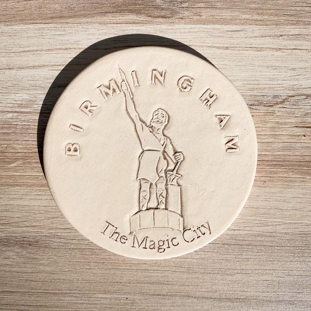 Birmingham Vulcan Clay Coaster