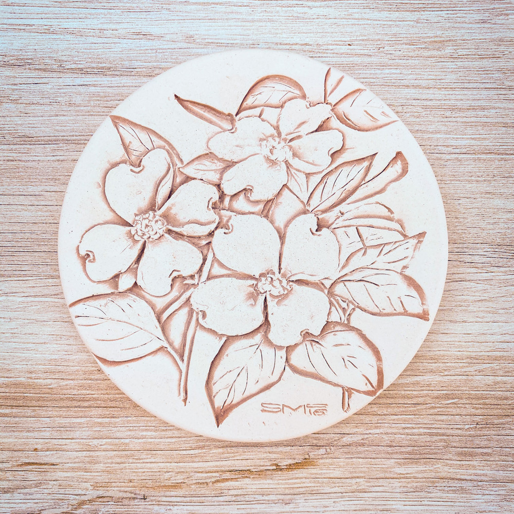 Dogwood Clay Coaster