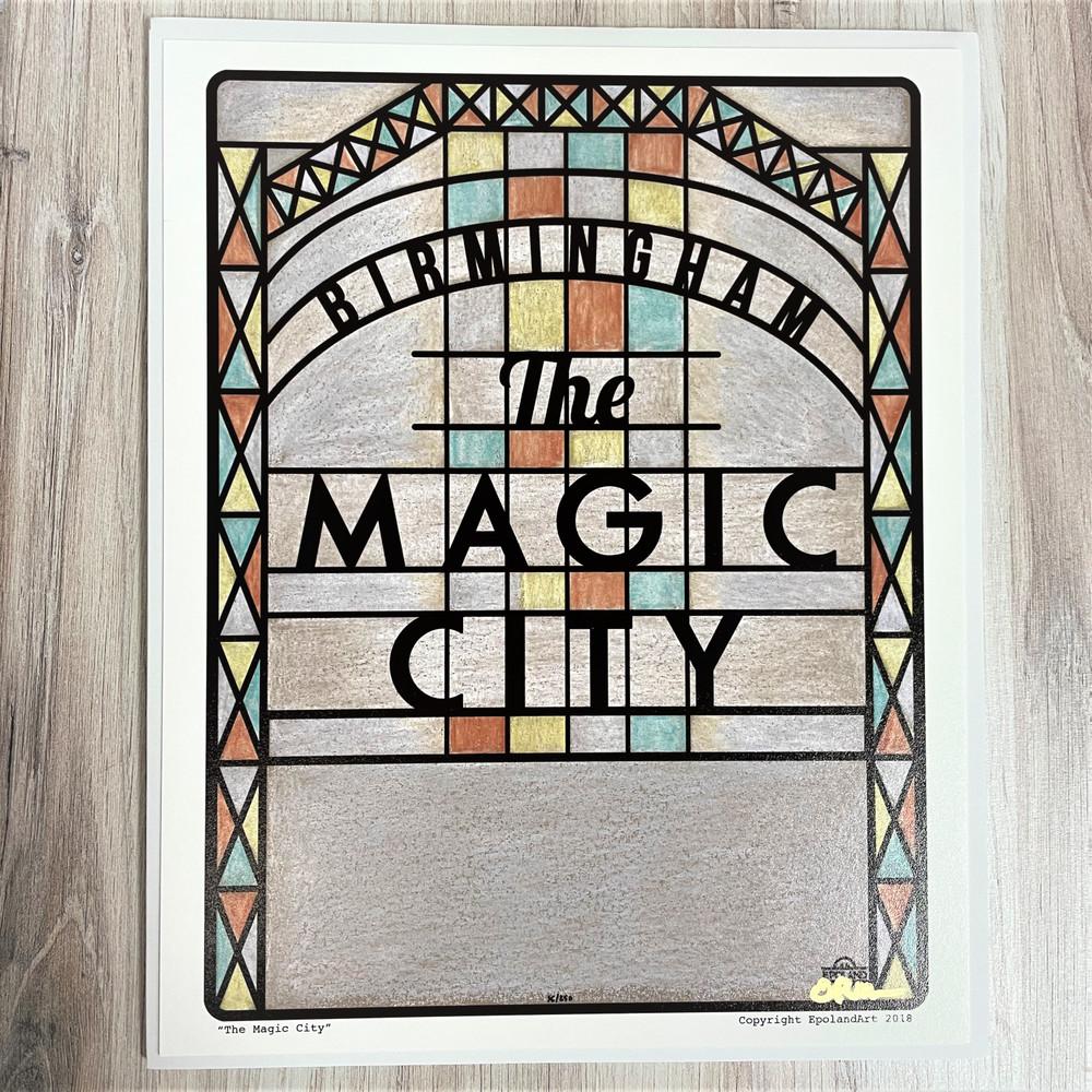 The Magic City Sign Print