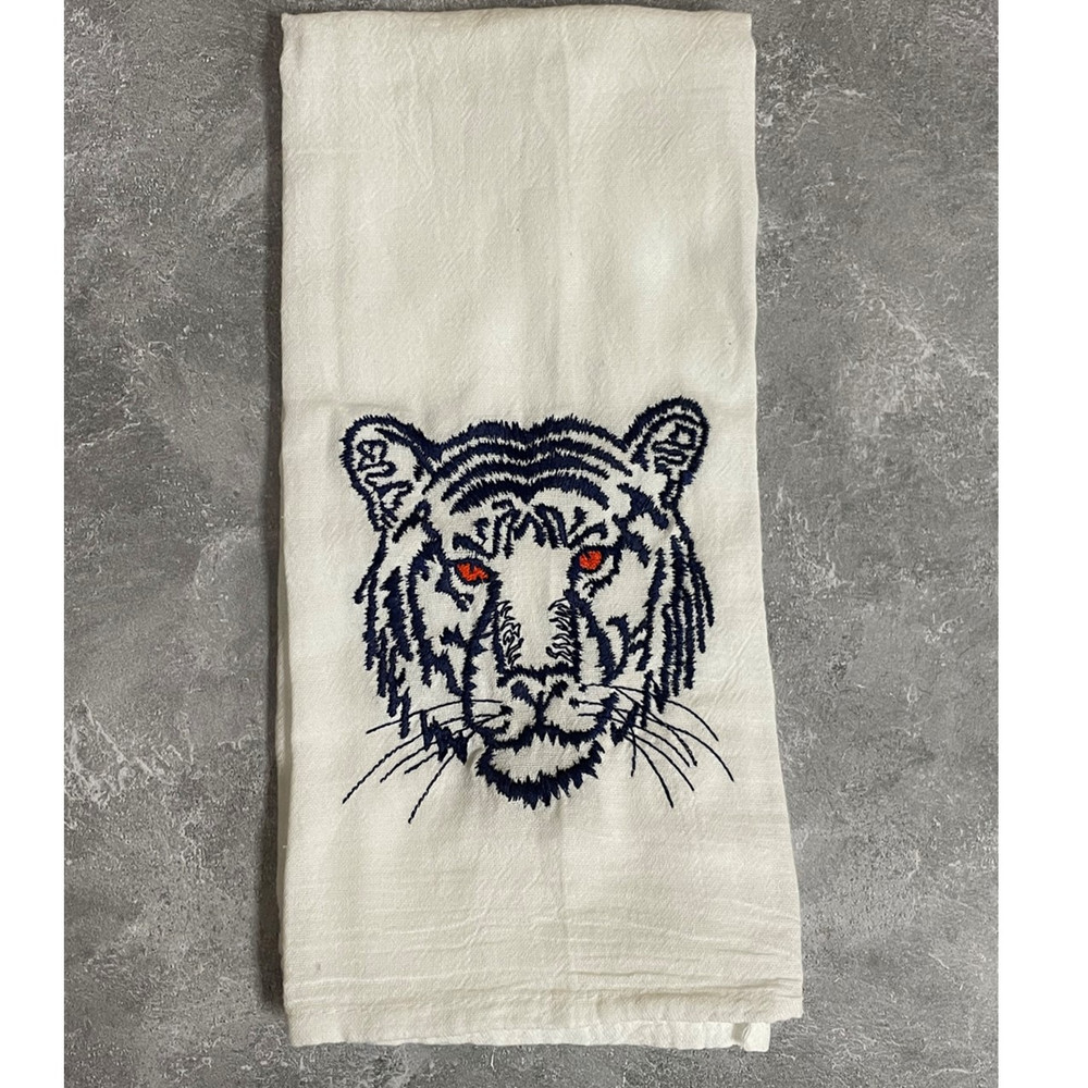 Embroidered Tiger Kitchen Towel