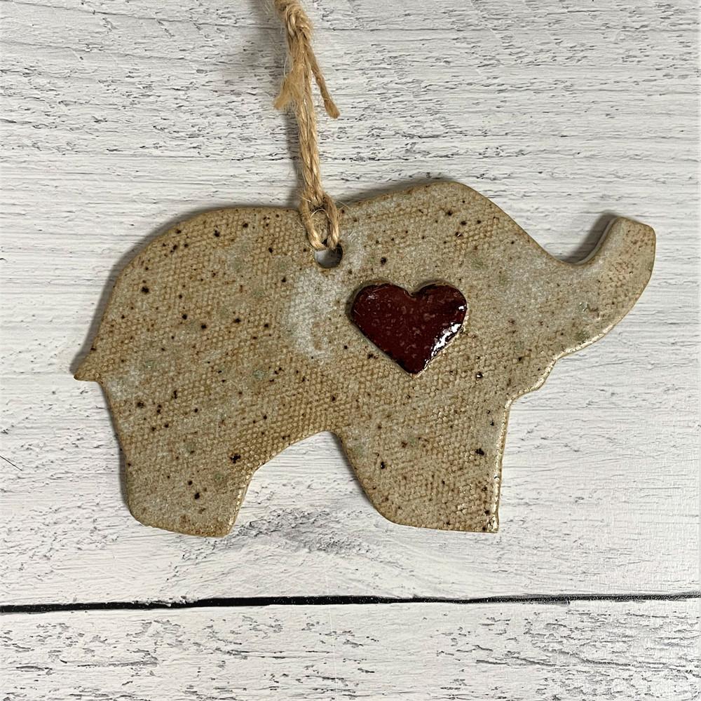 Aspire Pottery Elephant with Heart