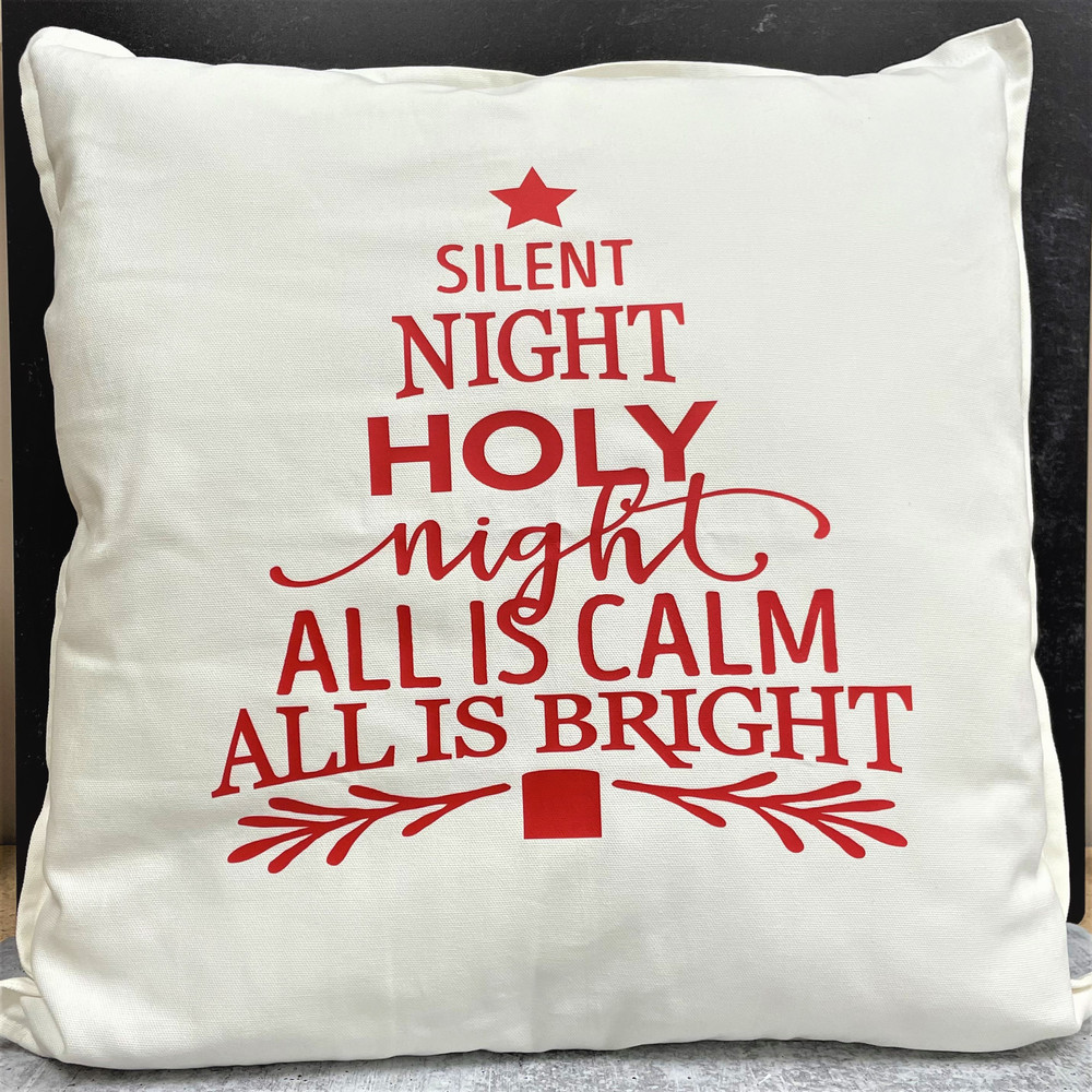 Silent Night Tree Pillow
