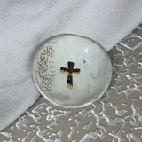 Prodigal Pottery Cross Ring Dish