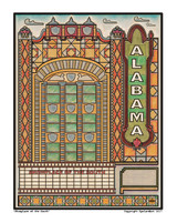 Showplace of the South Alabama Theater  Print