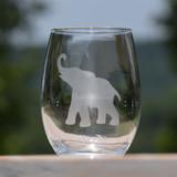 Elephant Stemless Wine Glass