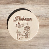Alabama Symbol Clay Coaster