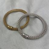 Sarah Cavender Metalworks Wire Knit Bangle