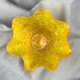 Orbix Hot Glass Candy Dish, Yellow