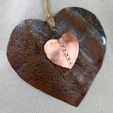 Copper & Tin Heart Ornament