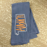 Auburn State Outline Towel