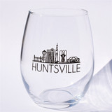Huntsville Cityline Stemless Wine Glass