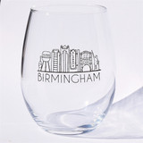Birmingham Cityline Stemless Wine Glass