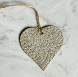 Aspire Pottery Heart Ornament
