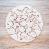 Dogwood Clay Coaster