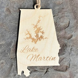 Lake Martin Wooden Ornament