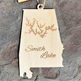 Smith Lake Wooden Ornament