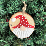 Wooden Gnome Ornaments