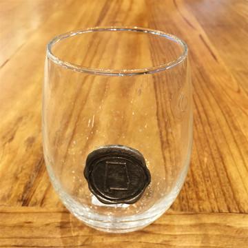 Alabama Pewter Stemless Wine Glass