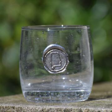 Alabama Double Old Fashion Glass