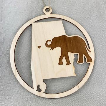 Alabama Elephant Ornament