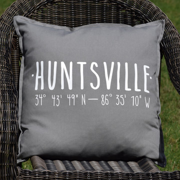 Huntsville Coordinates Pillow