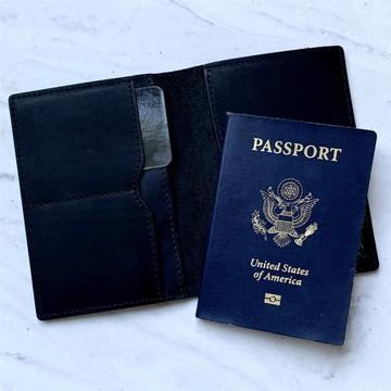 Flint Leather Co. Passport Wallet