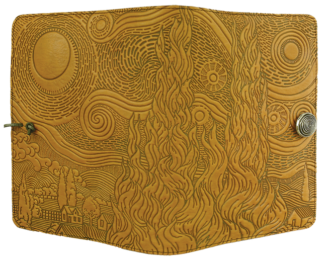 """Van Gogh's Sky"" in Marigold, Small Oberon Leather Journal"