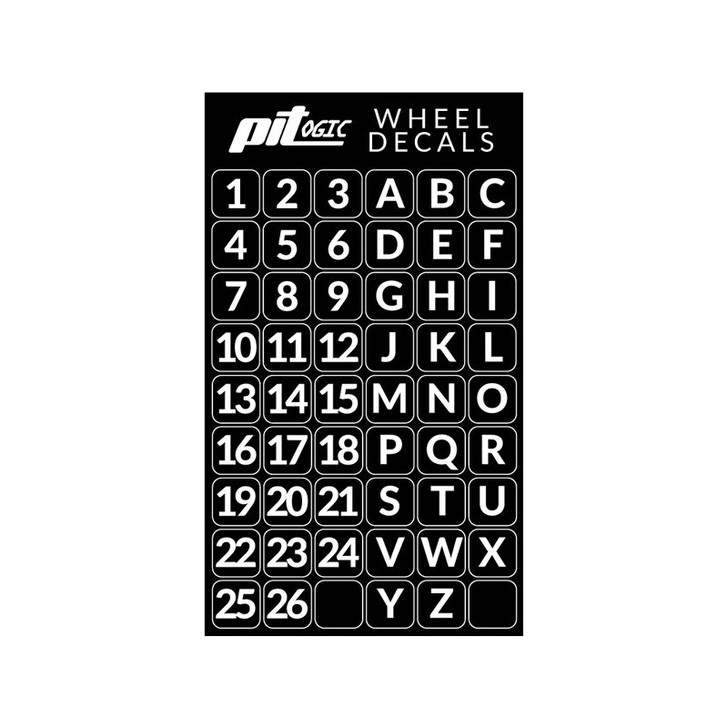 Pitlogic Wheel Decal Sheet