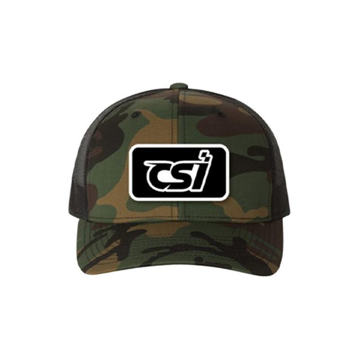 Camo/Black Snap Back Hat W/ CSI Patch