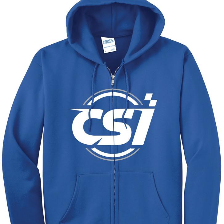 CSI Shocks Blue Fleece Zip-Up Hoodie