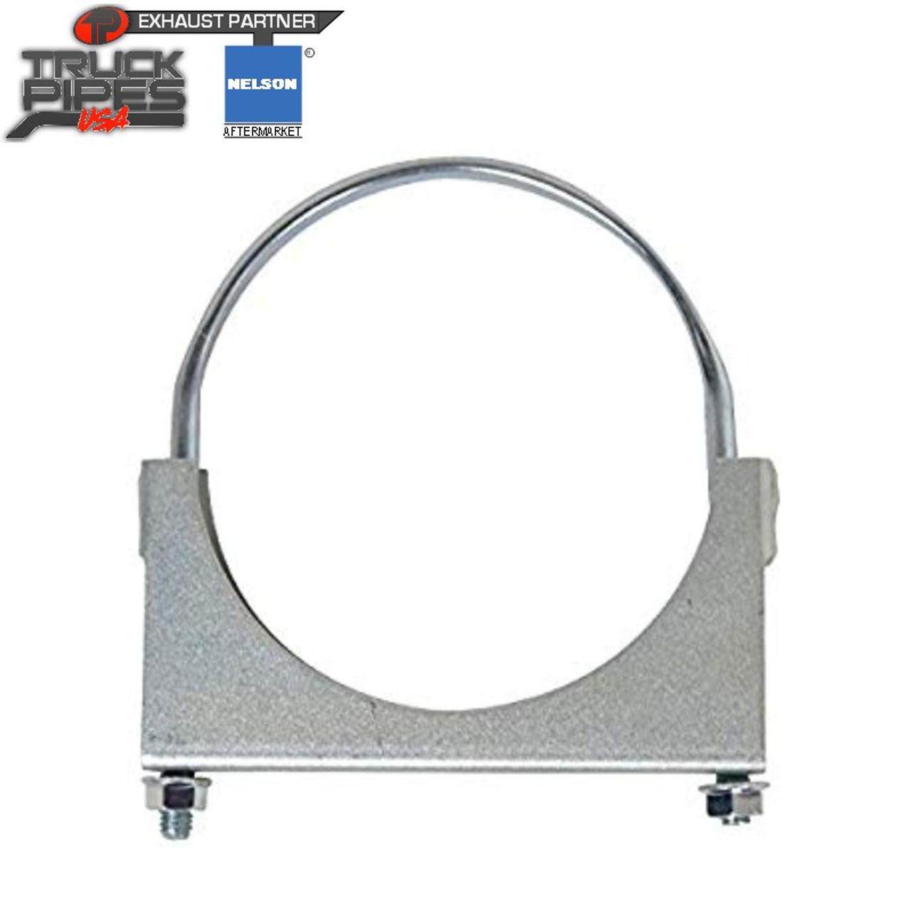 "3.5"" Zinc Plated Heavy Duty U-Bolt Flat Band Clamp Bulk Qty 50  Nelson 89557B"
