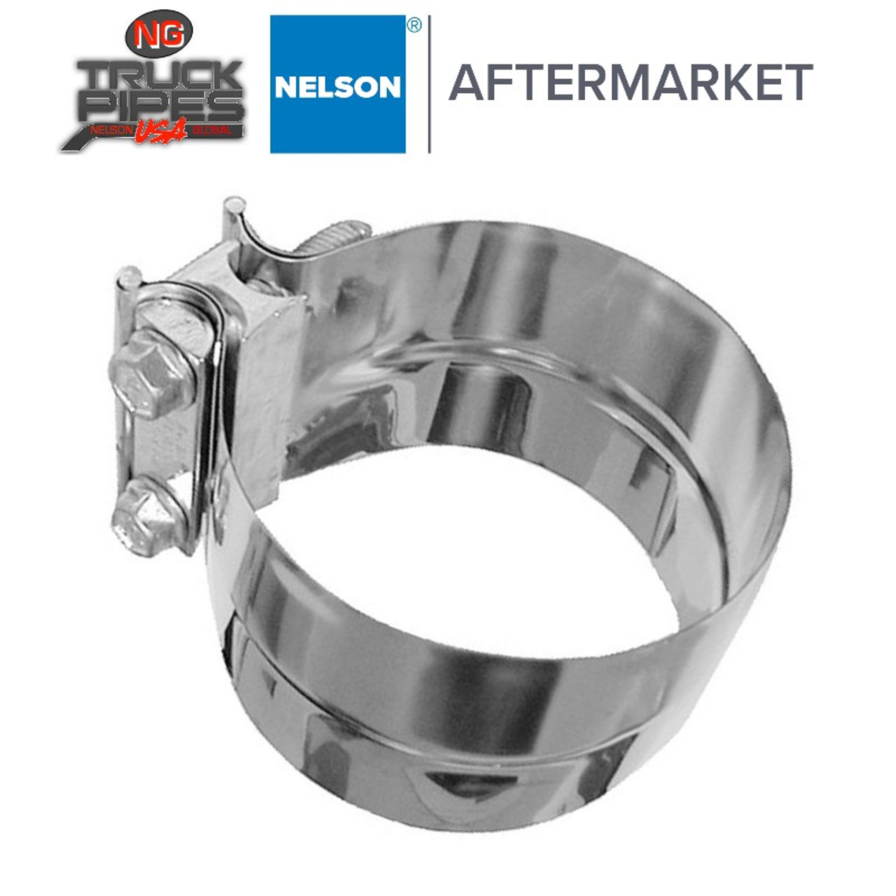 """6"""" Torctite Preformed Lap Joint Clamp Polished Stainless Steel Nelson 90554K"""