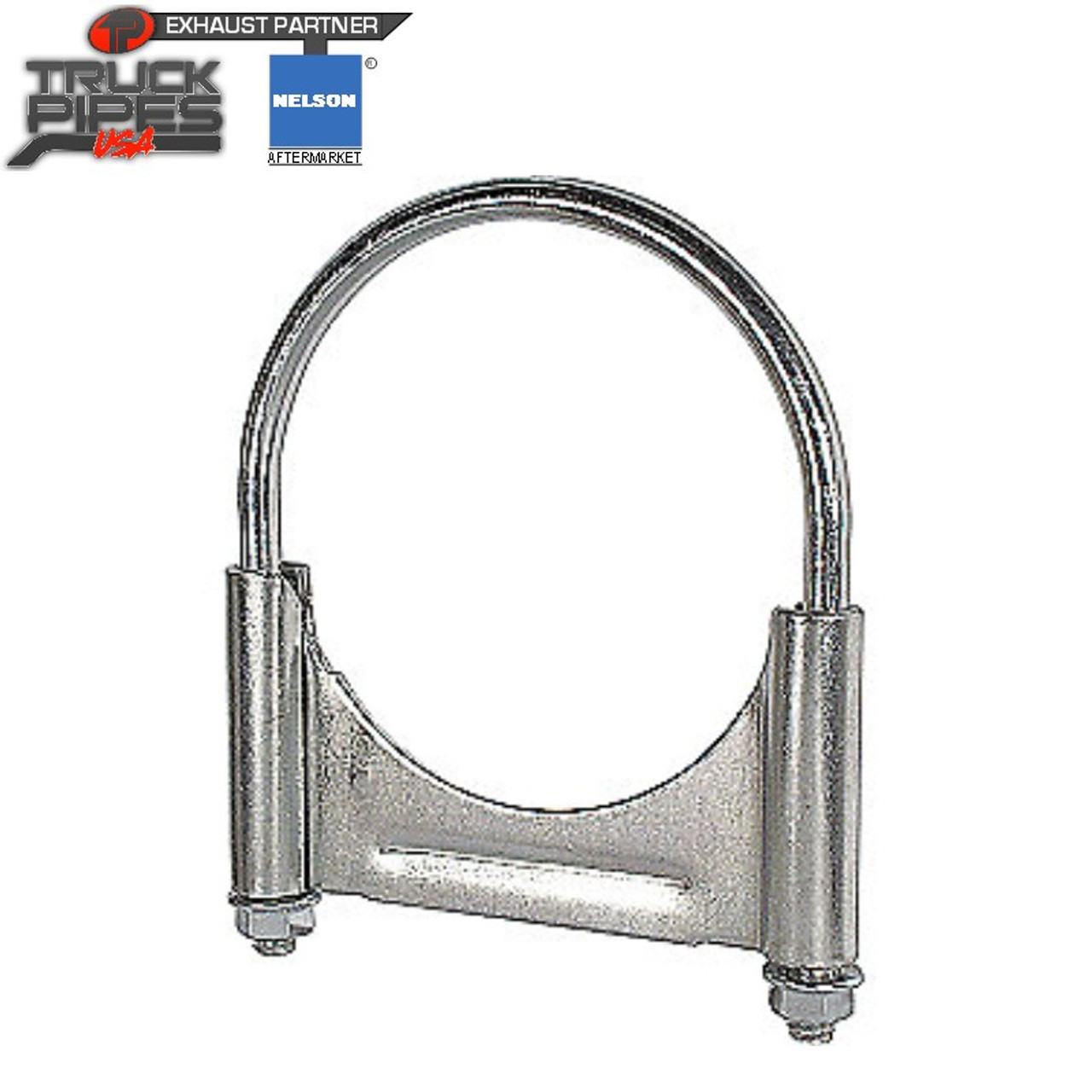 """4"""" Welded Saddle U-Bolt Exhaust Clamp Nelson 90867A"""