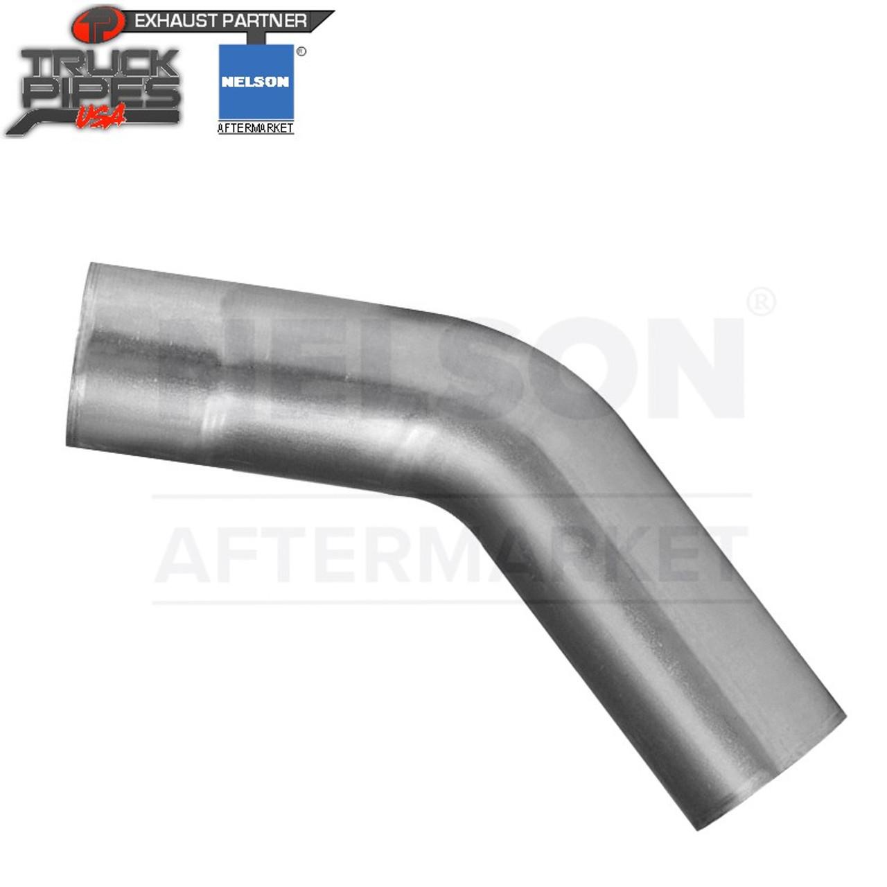 "4.5"" OD-OD 45 Degree Exhaust Elbow Aluminized x 10"" Leg Length Nelson 900100A"