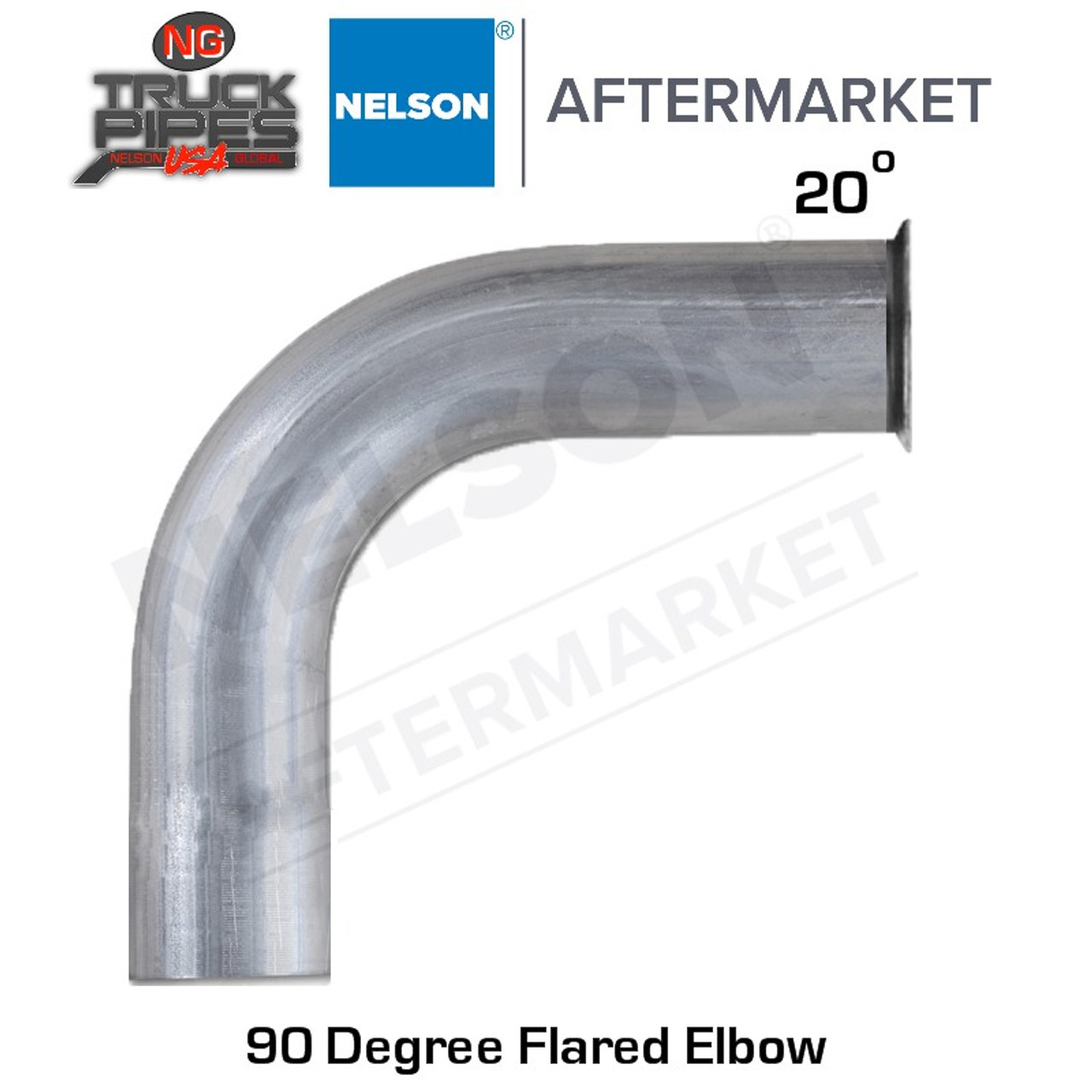 """3.5"""" 20 Degree Flare 90 Degree Stainless Steel Elbow Nelson 900551A"""