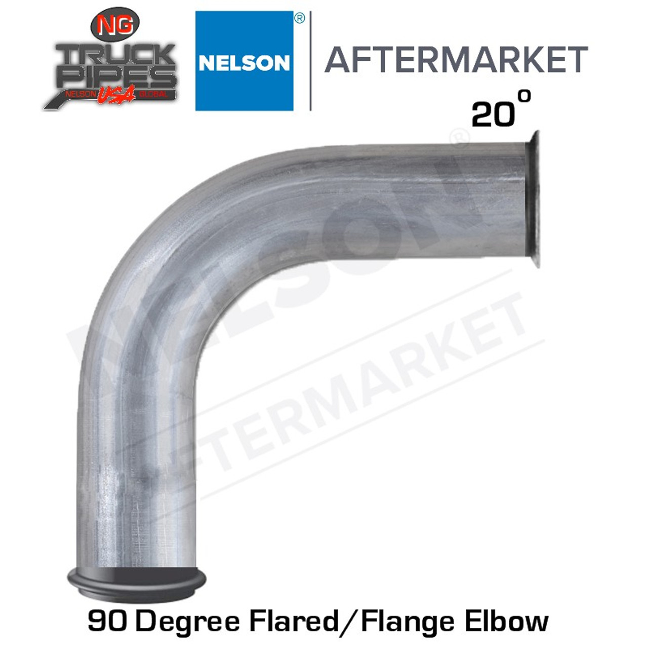 "3.5"" 20 Degree Flare and Marmon 90 Degree Stainless Steel Elbow Nelson 900557A"